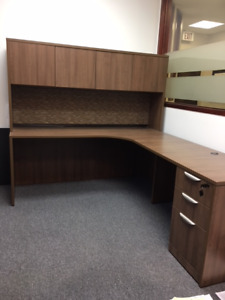 Office Furniture - Modern Walnut Finish