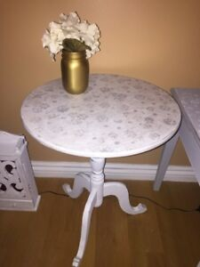 Lovely Round Side Table-Delivery Included