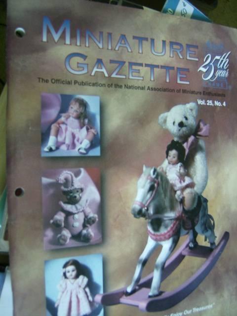 Miniature Gazette Mag Summer 1997 Lamb, Sailboat, Teddy Bear Jumping Jack, Broom