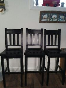 3 bar height chairs