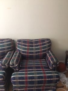 Sturdy Couch and armchair