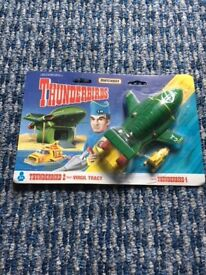 Vintage Matchbox Thunderbird 2 and Thunderbird 4. Still packaged