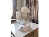 Simple white desk fan