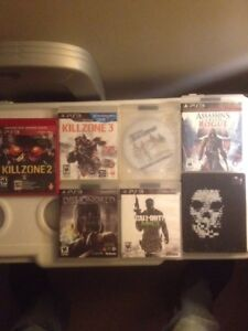 Various PS3 games for sale. Prices start at 2 bucks.