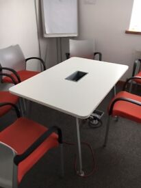 office furniture 1.5 meter with cable management meeting tables