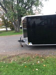 2018 Peach 7'x16' Cargo Trailer with 15' Checkered Awning