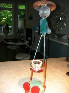 STEEL ART SCULPTURE just too funny!! artist made WHIMSY Cambridge Kitchener Area image 2