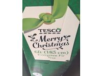 FREE IF COLLECTED 6ft Tesco Christmas Tree