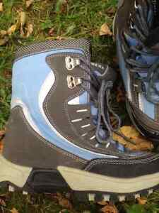 ALPINETEK Light Blue Reflective Winter Boots Girls Boys Size 7M Cambridge Kitchener Area image 2