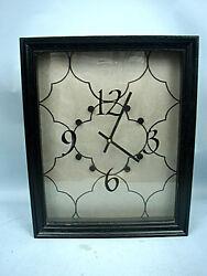 Contemporary Wood Framed Quartz Wall Clock