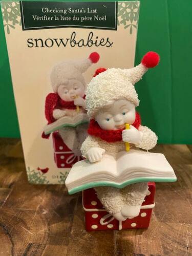 Dept 56 Snowbabies - Checking Santa