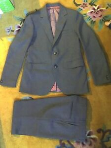 Suit probably XS, waist around 26""