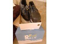 ROCK FOOT SAFETY BOOTS Men's SIZE UK 10/ EU 46 STEEL TOE CAP