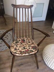 "6 Chairs ""Old Colonial"" Ercol Dining Chairs - Windsor Circa 1970 Watermans Bay Stirling Area Preview"