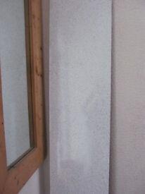 Aquapanel off-cut white glitter/black marble reversible 41cm x 2.4m