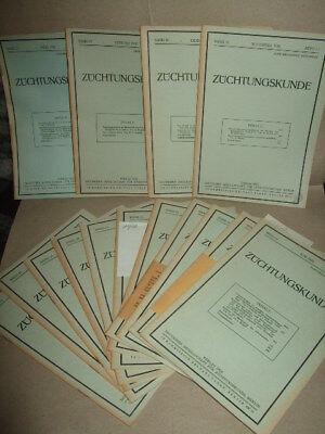 """15 Ausgaben """"Züchtungskunde"""",Fachzeitschrift f.Tierzucht,1939,Veterinär,Fachbuch"""