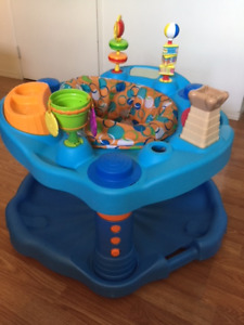 Exersaucer Bounce and Learn Sweet Tea Party, Blue