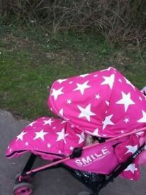 Girls pushchair/ stroller