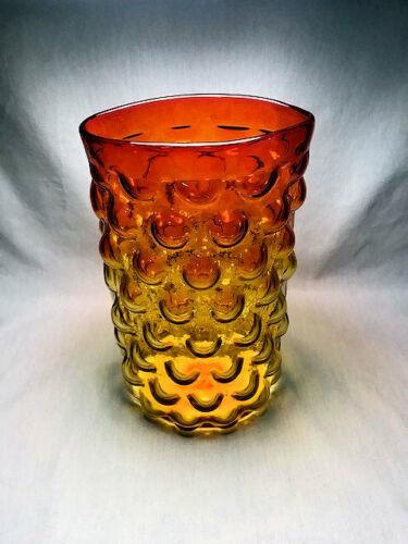 Blenko Tangerine Bubble Vase #6037