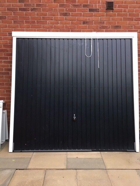 SOLD - Hormann Black Metal Garage Door - Up And Over - Very Good Condition