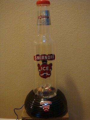 SMIRNOFF ICE LIGHT UP BOTTLE FISH TANK LAMP SIGN DISPLAY BAR MANCAVE