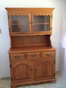 Roxton solid maple hutch and buffet