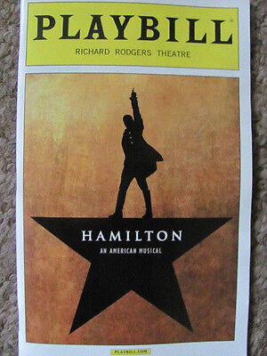 HAMILTON Playbill Broadway Musical Alexander LIN MANUEL-MIRANDA JONATHAN GROFF !