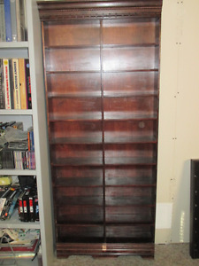 Wooden hand made shelf storge unit