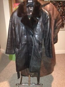 Danier Leather Black Coat, lined for winter, Fits Small/Med