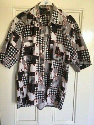 Chio Ferrari Vintage short sleeved mans shirt logo to front pocket Excellent