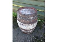 Vintage French oak barrell