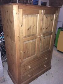 Solid pine short (or children's) wardrobe in excellent condition