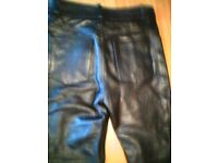 Motorcycle trousers leather 32w 32 leg approx