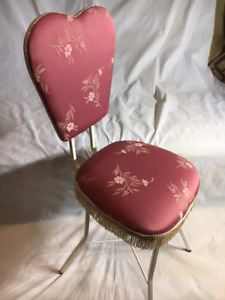 Vintage heart shaped back Vanity Chair