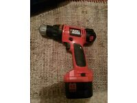 Black and decker drill good condition in box