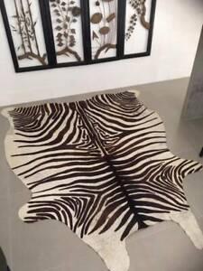 Cowhide Cow Hide Rug Mat Floor Covering Skin Zebra