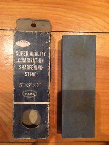 Vintage super quality combination sharpening stone by Fame