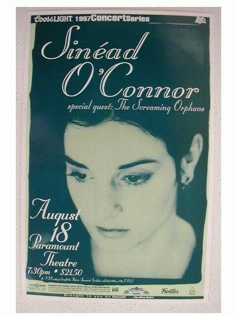 2 Sinead Oconnor handbill and a poster O