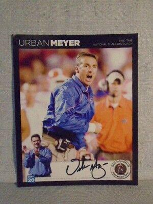 Urban Meyers Signed Florida Gators Buckeyes 2011 Bronko Nagurski NFL 8X10 Photo
