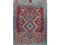 Hand woven 100% woollen new kilim tribal rug, size: 186x123 cm (number 450)