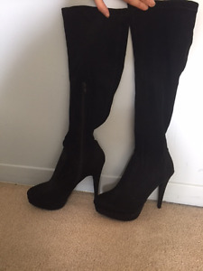 Never Worn Material Girl High Heeled Boots