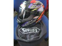 SHOEI TXR MOTORCYCLE MOTORBIKE HELMET WITH MATCHING HELMET BAG 53 CM