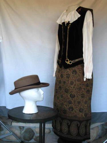 Edwardian Dress Victorian Civil War Style Outfit w Hat