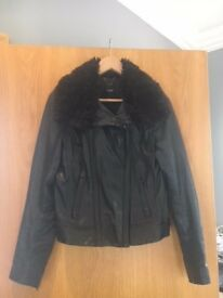 Oasis Black Leather Jacket