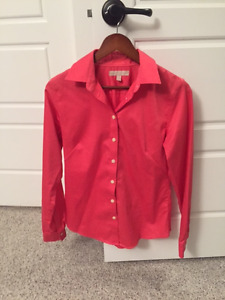 Non-Iron Fitted Blouse - Banana Republic