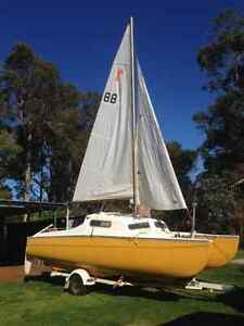 trailer sailor red baron in very good original condition Lower King Albany Area Preview