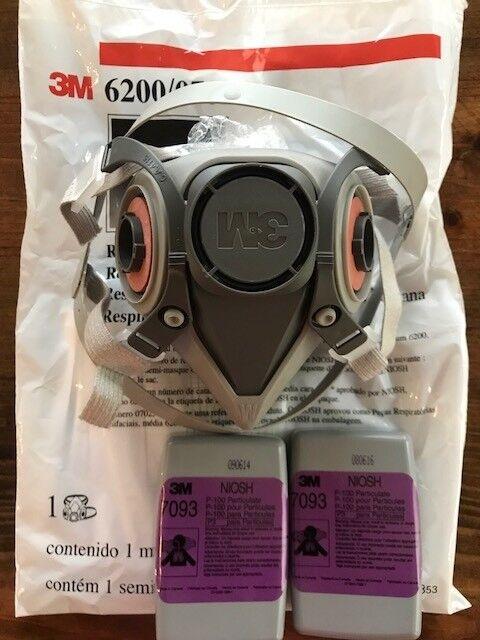 6200 half facepiece respirator 2 p 100