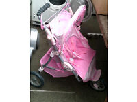double buggy dolls pram,clean and tidy