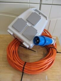 Camping consumer unit 240v 16A 3 socket 13A outlet