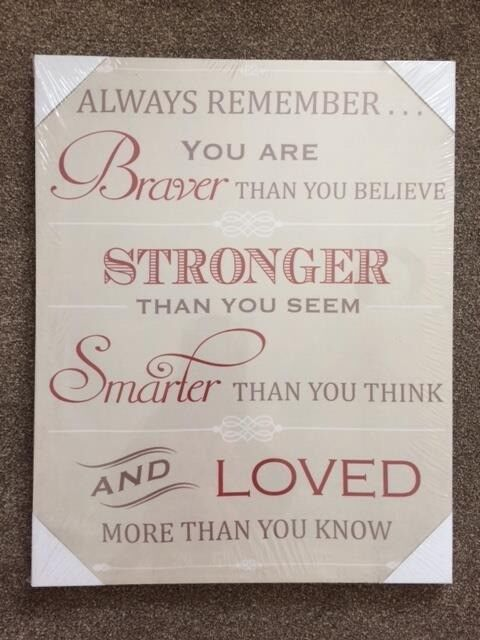 """Brand new canvasin Southampton, Hampshire - Brand new """"Always Remember"""" canvas 40cm x 50cm from B&Q, still has the cellophane on it (B&Q are still selling them online for £10)"""
